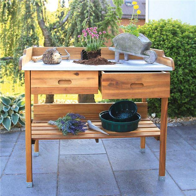 Pflanztisch 'Akazie' - für Garten, Terrasse & Balkon
